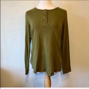 DULUTH-Green Long Sleeved Cotton Boho Top-Small